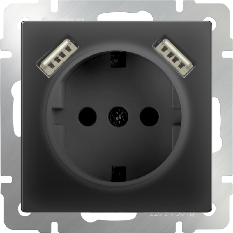 mechanism_black-socket-with-usb-and-protection