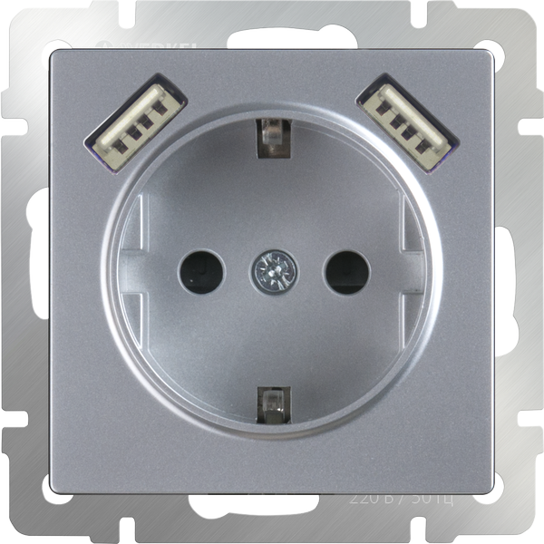 mechanism_silver-socket-with-usb-and-protection